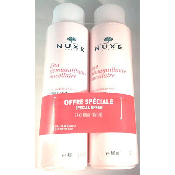 Nuxe Rose Agua Desmaquillante Micelar Pack 2x 400ml - Nuxe
