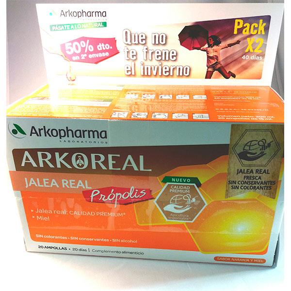 ARKOREAL JALEA REAL Própolis Pack x 2, 40 días.