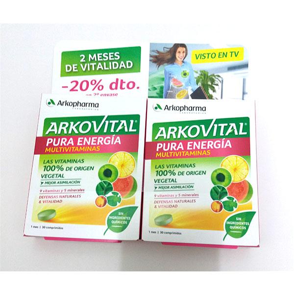ARKOVITAL PURA ENERGÍA multivitaminas Pack 60 cápsulas