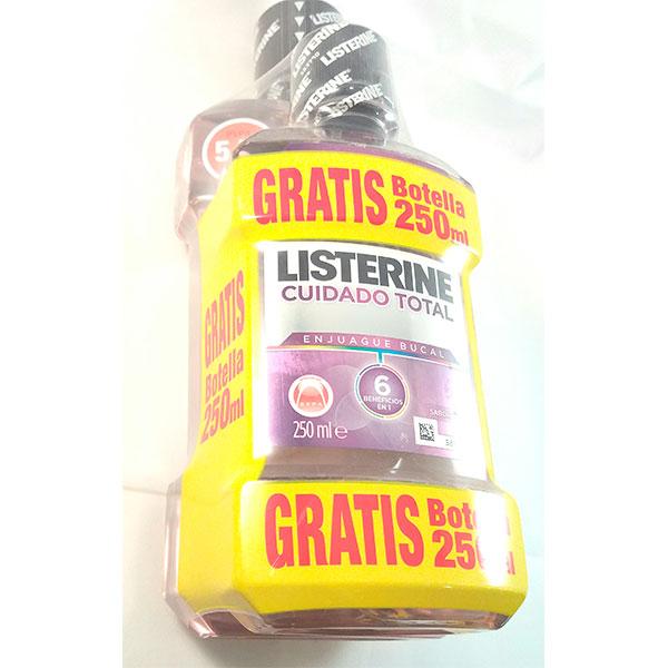 Listerine CUIDADO TOTAL 500ml + REGALO 250ML