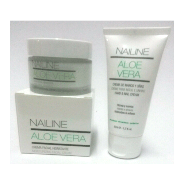 Nailine Aloe Vera Crema Facial Hidratante,50ml + REGALO