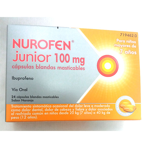 NUROFEN junior 100mg, 24 cápsulas.