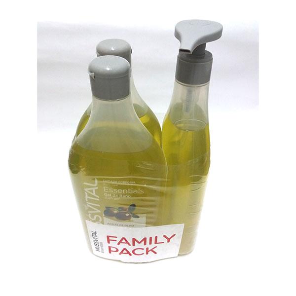 Mussvital Gel de Baño ACEITE DE OLIVA 3 envases de 750ml