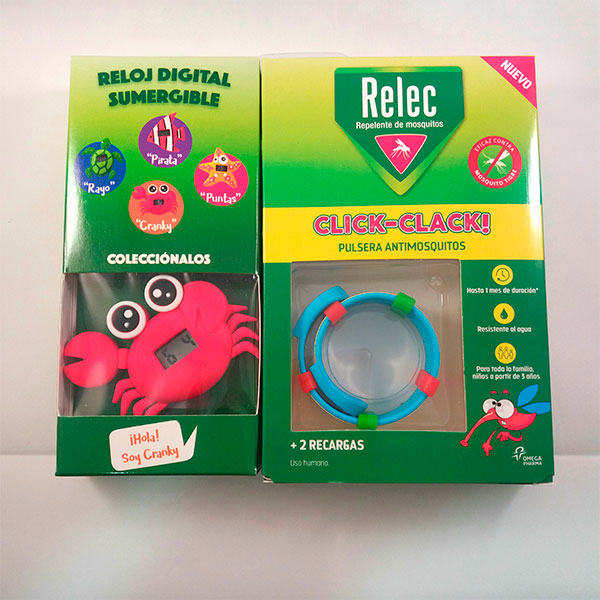 Relec CLICK-CLACK Pulsera Antimosquitos + REGALO