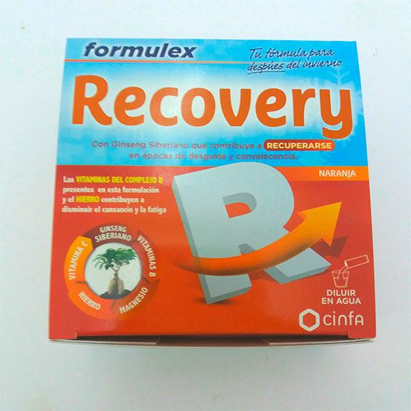Formulex Recovery 14 sobres de sabor naranja.