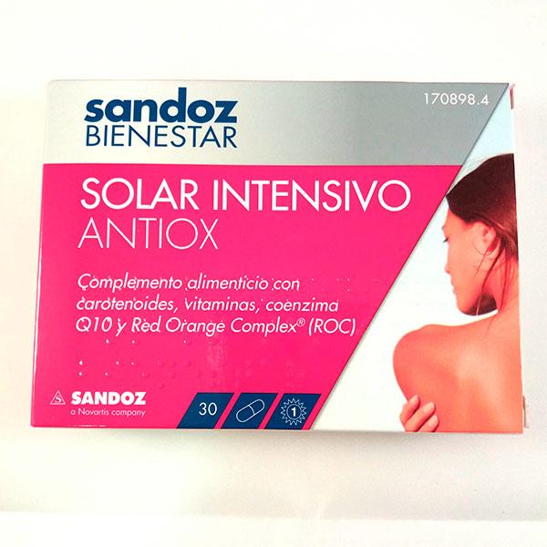 Sandoz BIENESTAR SOLAR INTENSIVO ANTIOX 30 Cápsulas
